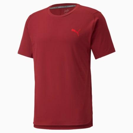 CLOUDSPUN BND Short Sleeve Men's Training Tee, Intense Red, small-GBR