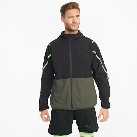 Woven Ultra Men's Training Jacket, Grape Leaf-Puma Black, small-GBR