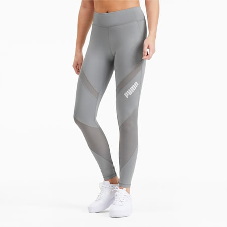 Leggings de training Mid Waist para mujer, Quarry, small