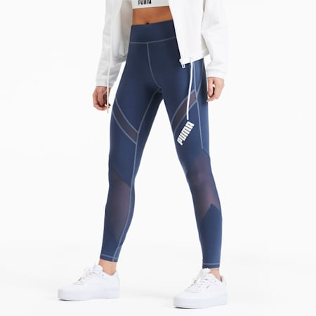 PUMA x PAMELA REIF Mid Waist Damen Training Leggings, Sargasso Sea, small