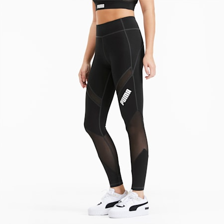 Mid Waist Women's Training Leggings, Puma Black, small