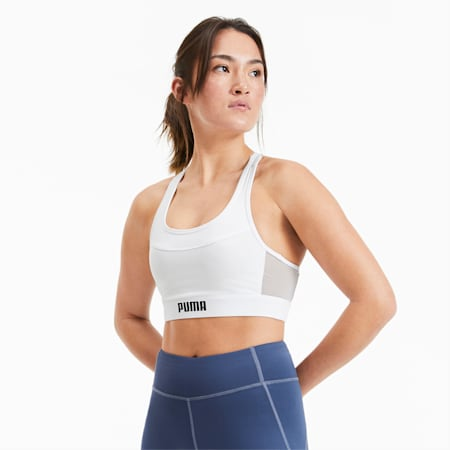 Layer Damen Training Crop Top, Star White, small