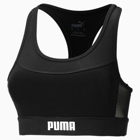 Damska skrócona koszulka treningowa Layer, Puma Black, small