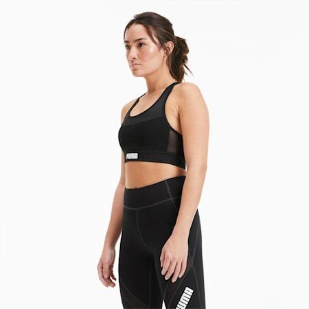 PUMA x PAMELA REIF Layer Damen Training Crop Top, Puma Black, small