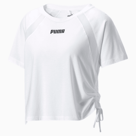Boxy trainingsshirt voor dames, Star White, small
