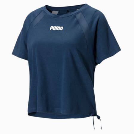 T-shirt da training squadrata donna, Sargasso Sea, small
