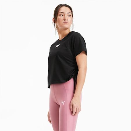T-shirt da training squadrata donna, Puma Black, small