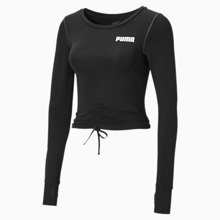 Cropped Long Sleeve Women's Training Top, Puma Black, small