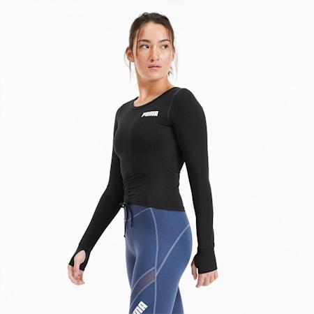 Cropped Long Sleeve Women's Training Top, Puma Black, small