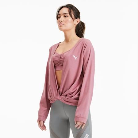 PUMA x PAMELA REIF Women's Training Sweater, Mesa Rose, small