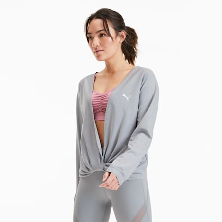 Women's Training Sweater, Quarry, small