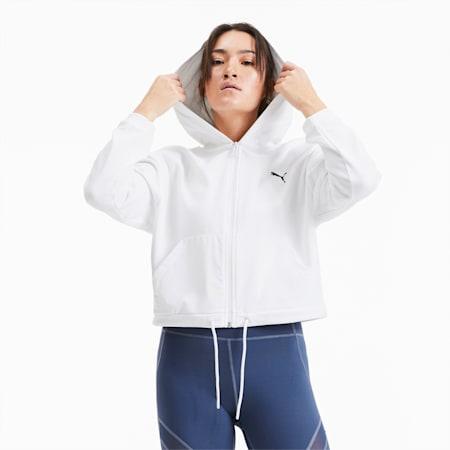 PUMA x PAMELA REIF Full Zip Women's Training Hoodie, Star White, small