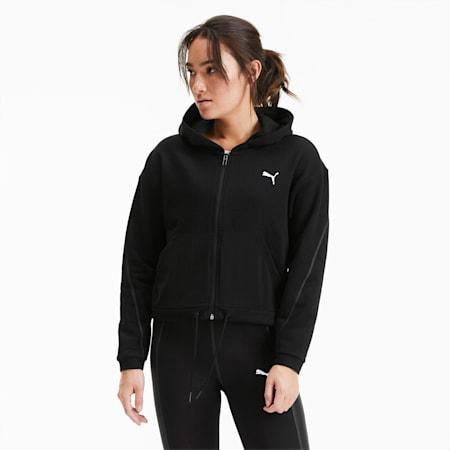 Full Zip Women's Training Hoodie, Puma Black, small