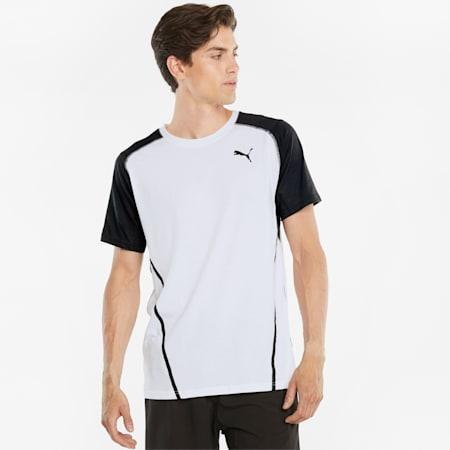 Vent Colourblocked Short Sleeve Men's Training Tee, Puma White, small-GBR