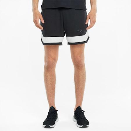 Shorts da training in maglia Vent 17,7 cm da uomo, Puma Black-Puma White, small