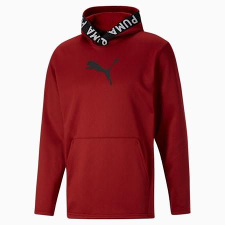 Sudadera con capucha de entrenamiento PWRFLEECE para hombre, Intense Red, pequeño