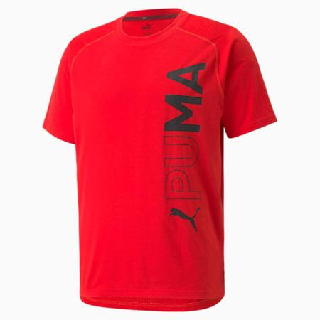 Short Sleeve Men's Training Tee, High Risk Red, small
