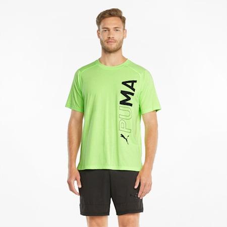 Short Sleeve Men's Training Tee, Green Glare, small-GBR