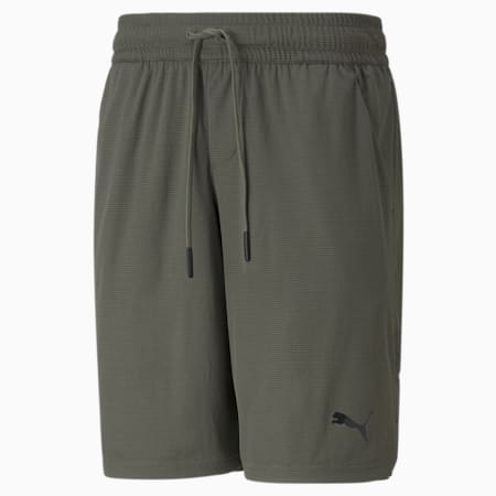 """Shorts deportivos tejidos de 10"""" para hombre, Grape Leaf, pequeño"""
