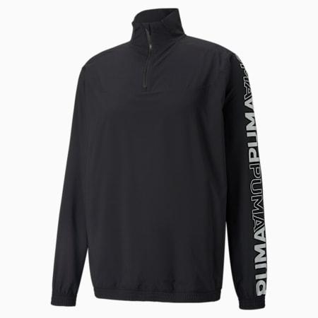 Woven Half-Zip Men's Training Top, Puma Black, small-GBR