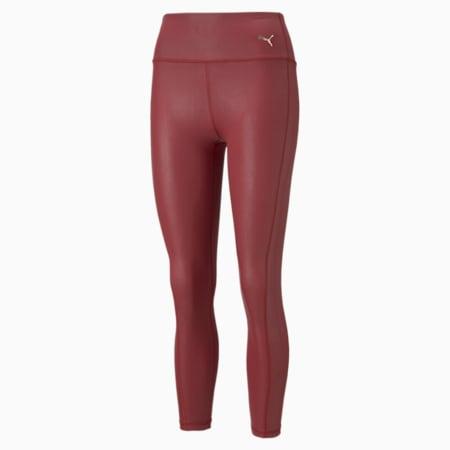 Moto High Waist 7/8 Women's Training Leggings, Intense Red, small