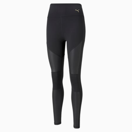 Leggings con cintura alta de largo completo Moto para mujer, Puma Black, pequeño