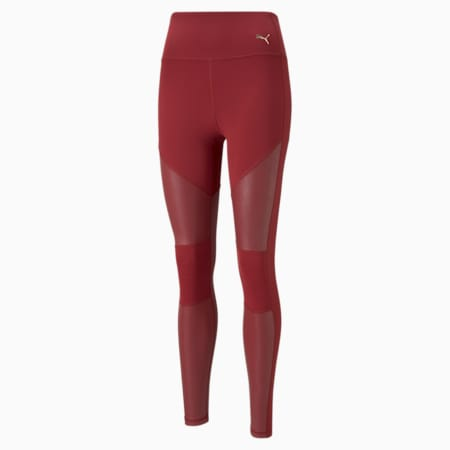 Leggings con cintura alta de largo completo Moto para mujer, Intense Red, pequeño
