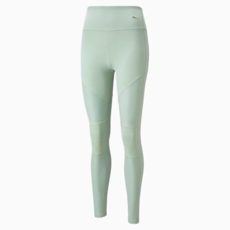 Leggings con cintura alta de largo completo Moto para mujer, Frosty Green, pequeño