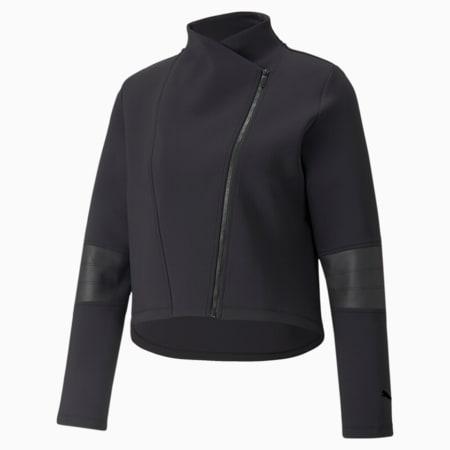 Moto Women's Training Jacket, Puma Black, small-GBR