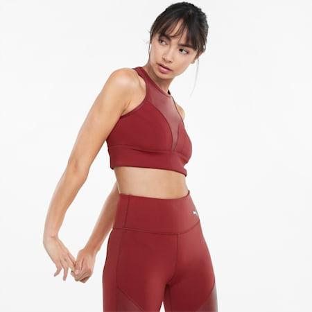 Moto Trainings-Bra für Damen, Intense Red, small