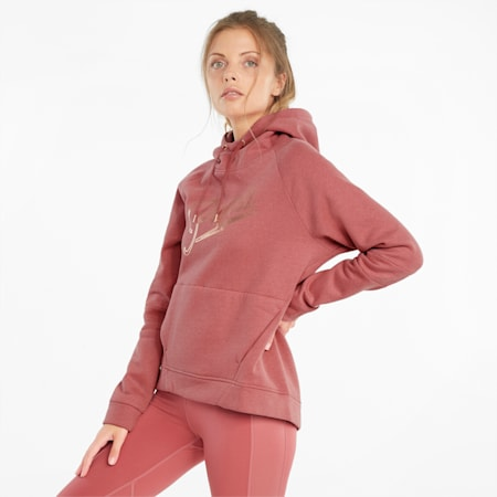 Moto Pullover Women's Training Hoodie, Mauvewood, small-GBR