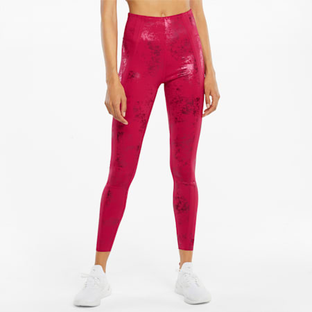 Damskie legginsy treningowe ellaVATE Eversculpt, Persian Red-Matte foil print, small