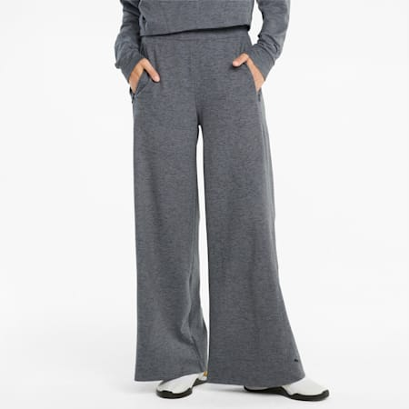 CLOUDSPUN Women's Training Pants, Puma Black Heather, small-GBR
