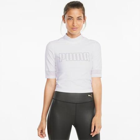 EVERSCULPT Damen Trainingsshirt, Puma White, small