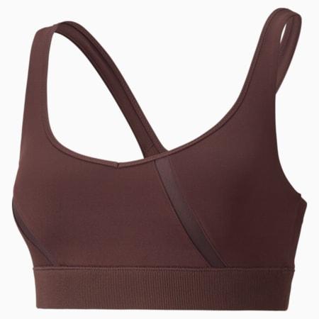 EXHALE Mesh Curve Women's Training Bra, Fudge, small