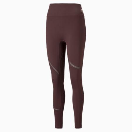 EXHALE Mesh Curve Women's Training Leggings, Fudge, small-GBR