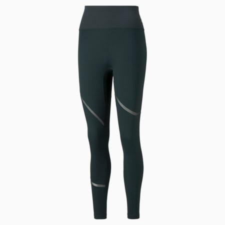 EXHALE Mesh Curve sportlegging dames, Midnight Green, small