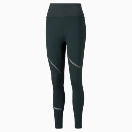 EXHALE Mesh Curve Women's Training Leggings, Midnight Green, small-GBR