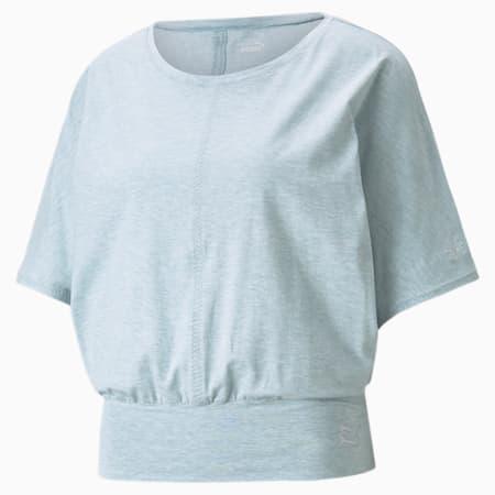 Camiseta de entrenamiento Exhale para mujer, Spellbound Heather, pequeño