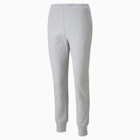 Pantalón de entrenamiento con cintura alta acanalada Exhale para mujer, Light Gray Heather, pequeño