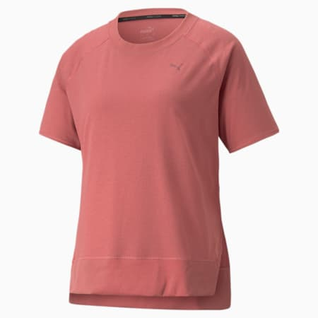 STUDIO Relaxed Ribbed Trim Women's Training Tee, Mauvewood, small-GBR