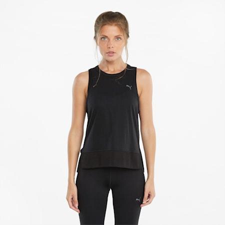 Débardeur d'entraînement sans manches à dos ouvert Studio, femme, Puma Black, petit
