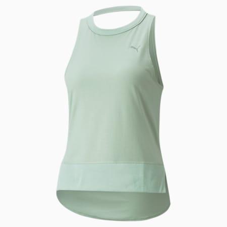 Camiseta de entrenamiento sin mangas con espalda abierta Studio para mujer, Frosty Green, pequeño