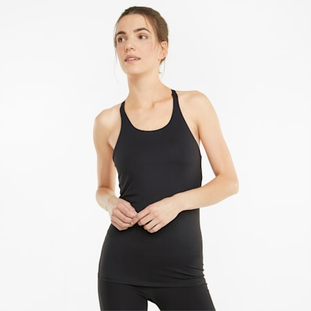 STUDIO Yogini Long & Lean 2-in-1 Damen Trainings-Tank-Top, Puma Black, small