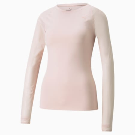 Studio Yogini Mesh Women's Slim T-Shirt, Lotus, small-IND