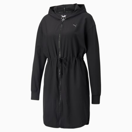 Studio Flow Woven Women's Jacket, Puma Black, small-IND