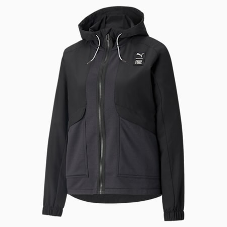 PUMA x FIRST MILE Woven Women's Training Jacket, Puma Black, small-GBR