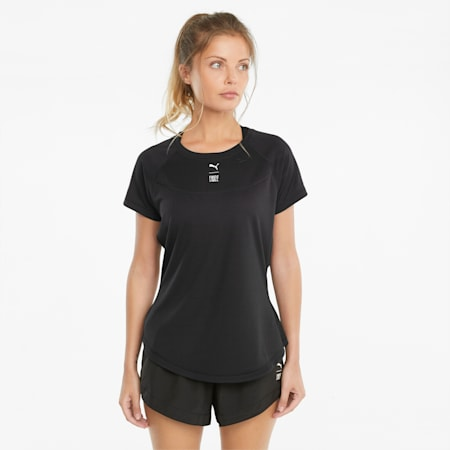 Damski T-shirt treningowy ze stójką PUMA x FIRST MILE, Puma Black, small