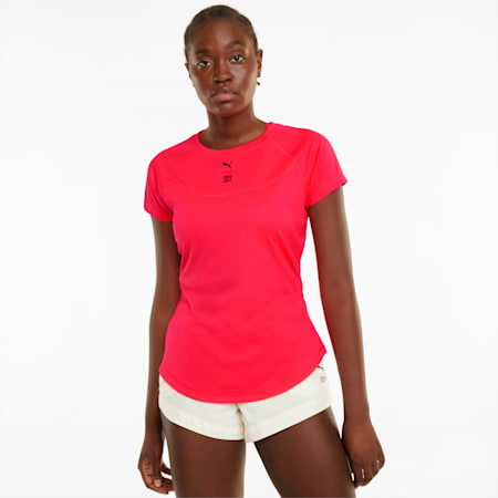PUMA x FIRST MILE T-shirt met hoge kraag dames, Sunblaze, small