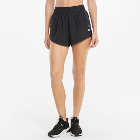 PUMAxFIRST MILE Gewebte Damen Trainingshorts, Puma Black, small